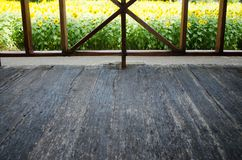 Inner View See to Front Porch Wood Floor. Inner View See to Front Porch Old Wood Floor Royalty Free Stock Photo