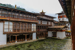Inner view of Trongsa Dzong, one of the oldest Dzongs in Bumthang, Bhutan. Asia Royalty Free Stock Photography