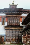 Inner view of Trongsa Dzong, one of the oldest Dzongs in Bumthang, Bhutan, Asia. View of the beautiful facade of the temple Stock Images