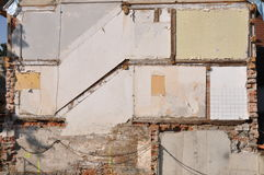 Inner wall of a condemned house Stock Image