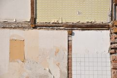 Inner wall of a condemned house Royalty Free Stock Images