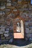 Inner wall fortification corridors, Methoni Castle Royalty Free Stock Photo