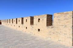 The inner wall of Jiayu Pass Jiyuguan royalty free stock photo