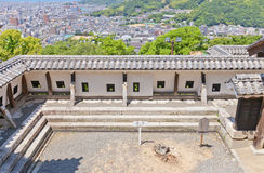 Inner wall of Shikiri Gate of Matsuyama castle, Japan Stock Image