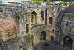 Inner walls of Clifford Tower in York in England Royalty Free Stock Photography