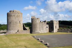 Inner Ward and Keep of Pembroke Castle. The inner ward and early Norman keep of Pembroke Castle in Wales royalty free stock photos