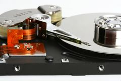 Inner workings of a hard disk Stock Image