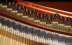 Inner workings of piano Royalty Free Stock Photo