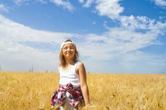 Inner world of the child . Meditation as way of life . Royalty Free Stock Photo