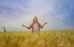 Inner world of the child . Meditation as way of life . Stock Image