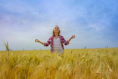 Inner world of the child . Meditation as way of life . Stock Photography