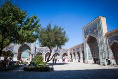 Inner yard of ancient Samarkand royalty free stock images