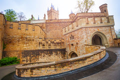 The inner yard of beautiful Hohenzollern castle Royalty Free Stock Images