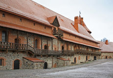 Inner yard of Castle in Trakai. Lithuania Stock Images
