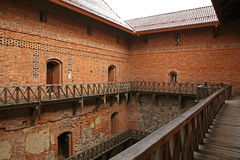 Inner yard of Castle in Trakai. Lithuania Stock Photography