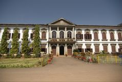 Inner yard of Church of St Cajetan. Old Goa, India Royalty Free Stock Image