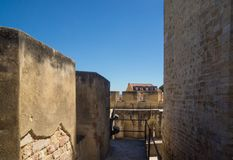 Inner yard of fortress stock photography
