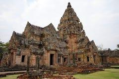 Inner yard of khmer temple. BURIRAM, THAILAND - CIRCA FEBRUARY 2017 Inner yard of khmer temple in Phanom Rung historical park Stock Image