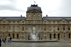 Inner yard of louvre. Paris, France Royalty Free Stock Photography