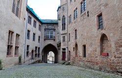 Inner yard of Marburg castle, Marburg. The view of inner yard of Marburg castle Landgrafenschloss Marburg, Marburg, Hesse, Germany Stock Image