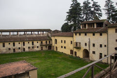 Inner yard of Medici Fortress of Santa Barbara. Pistoia. Tuscany. Italy. Royalty Free Stock Images