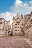 Inner yard Neuschwanstein Royalty Free Stock Photo