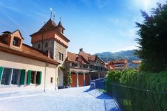 Inner yard of Oberhofen Royalty Free Stock Images
