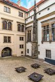Inner yard in Old Prague Stock Photography