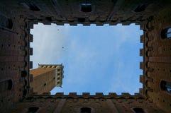 Inner yard of  Palazzo Pubblico, Siena, Tuscany, Italy Royalty Free Stock Photo