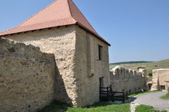 Rupea fortress. Inner yard of restored Rupea fortress from Transylvania, Romania Royalty Free Stock Image