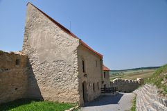 Rupea fortress. Inner yard of restored Rupea fortress from Transylvania, Romania Royalty Free Stock Photography