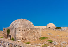 Inner yard of Retimno Fortress. Council and Mosque Royalty Free Stock Images