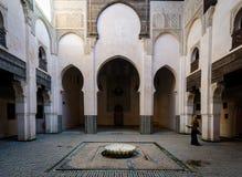 Inner Yard Riad, Morocco stock image
