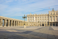 Inner yard of royal palace, Madrid Royalty Free Stock Images