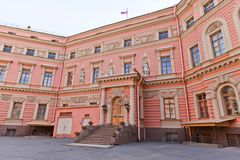 Inner yard of St Michael Castle (1801) in St Petersburg, Russia Stock Photo
