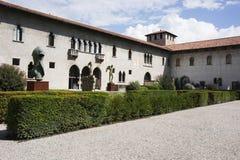 Inner yard of Verona old castle Royalty Free Stock Photos