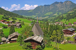 Inneralpbach,Tirol,Austria. The idyllic village of inneralpbach in tirol,austria Royalty Free Stock Image