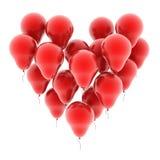 Innerballone getrennt auf Weiß Lizenzfreie Stockfotos