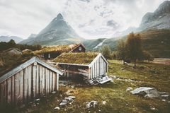 Innerdalen Mountains valley Landscape Royalty Free Stock Photography