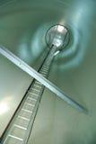 Innere Ansicht eines windturbine Stockfotos