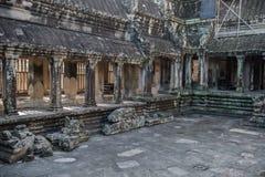 Innere Ansicht von Angkor Wat Stockbilder