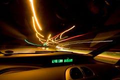 Innere Autospuren stockfoto