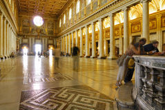 INNERE BASILIKA SANTA MARIAS MAGGIORE, ROM-` S HISTORISCHE MITTE, ITALIEN Stockfoto