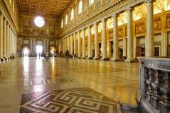 INNERE BASILIKA SANTA MARIAS MAGGIORE, ROM-` S HISTORISCHE MITTE, ITALIEN Stockbilder