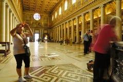 INNERE BASILIKA SANTA MARIAS MAGGIORE, ROM-` S HISTORISCHE MITTE, ITALIEN Lizenzfreies Stockfoto