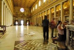 INNERE BASILIKA SANTA MARIAS MAGGIORE, ROM-` S HISTORISCHE MITTE, ITALIEN Lizenzfreie Stockfotos