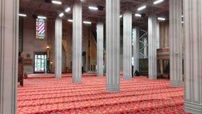 Innere blaue Moschee Eingeschränkt für Touristenbereich stock video