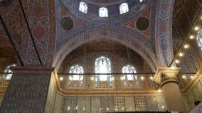 Innere blaue Moschee in Istanbul, die Türkei stock footage