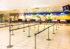 Innere des Trapani--Birgiflughafenabfertigungsbereichs Lizenzfreie Stockfotos