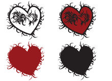 Innere des Valentinsgrußes lizenzfreie abbildung